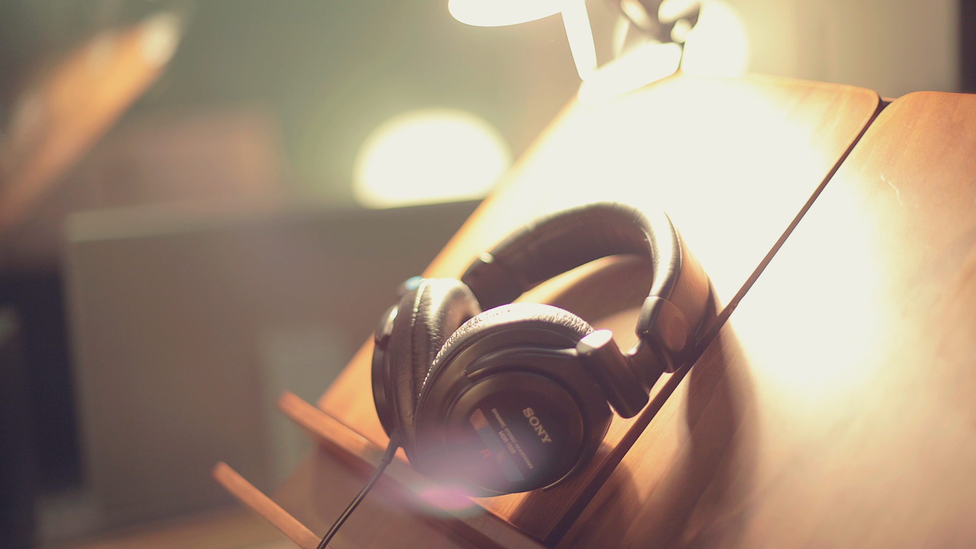 Headphones at our Sound studios.